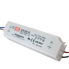 LPV-35-12 Mean Well SMPS - 12V 3A 36W Waterproof LED Power Supply