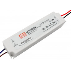 LPV-60-24 Mean Well SMPS - 24V 2.5A 60W Waterproof LED Power Supply