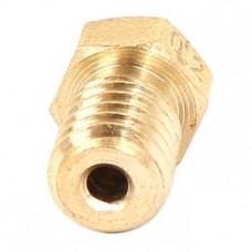 M6 Thread Brass Nozzle V5 V6 UM Compatible - 1.75mm x 0.2mm (for 3D printer)