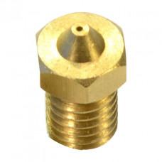 M6 Thread Brass Nozzle V5 V6 UM Compatible - 1.75mm x 0.4mm (for 3D printer)