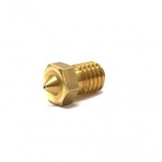 M6 Thread Brass Nozzle V5 V6 UM Compatible - 3mm x 0.3mm (for 3D printer)