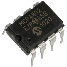 MCP4802 8 Bit Dual Voltage Digital to Analog Converter (DAC) with SPI Interface IC DIP-8 Package