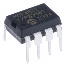 MCP4821 12 Bit Voltage Output Digital to Analog Converter (DAC) with SPI Interface IC DIP-8 Package