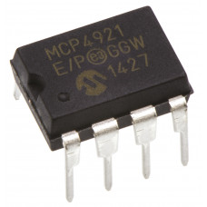 MCP4921 12 Bit Voltage Output Digital to Analog Converter (DAC) with SPI Interface IC DIP-8 Package