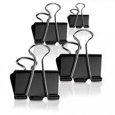 Metal Binder Clips Black 25MM - 4 Pieces Pack
