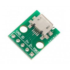 Micro USB Type B Mike Patch Straight Plug Adapter Plate Welding Head Breakout Board