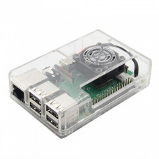 New High Quality Transparent ABS Case for Raspberry Pi 3B/3B+ with Slot for Cooling Fan and GPIO