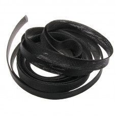 Nylon 16mm Expandable Braided Sleeve for Wire Protection - 2M Length