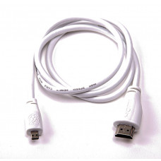 Official Micro-HDMI (Male) to Standard HDMI (Male) Cable for Raspberry Pi