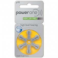 PowerOne P10 Hearing AID Battery - 6 Pieces Pack