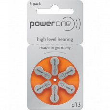 PowerOne P13 Hearing AID Battery - 6 Pieces Pack