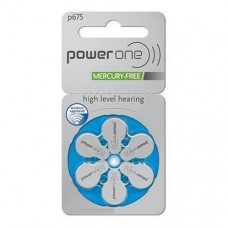 PowerOne P675 Hearing AID Battery - 6 Pieces Pack
