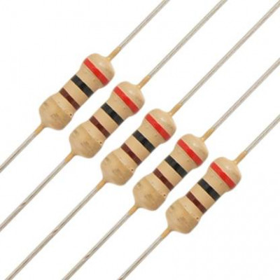 10K ohm Resistor - 1/4 Watt - 5 Pieces Pack