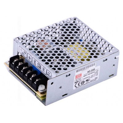 RD-35B Mean Well SMPS 5V 2.2A  and 24V 1A - 35W Dual Output Metal Power Supply