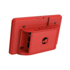 Red ABS Case for 7 inch Official Touch Screen Display and Raspberry Pi 4