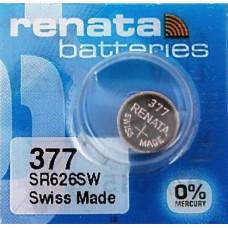 Renata 377 SR626SW 1.55V 28mAh Silver Oxide Button Cell Battery