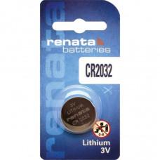 Renata CR2032 3V 225mAh Lithium Coin Cell Battery