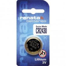 Renata CR2430 3V 285mAh Lithium Coin Cell Battery