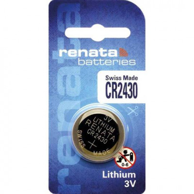 Renata CR2430 3V 285mAh Lithium Coin Cell Battery
