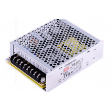 RQ-65D Mean Well SMPS (5V 4A), (12V 1.5A), (24V 1A) and (-12V 0.5A) - 68W Quad 4 Output Metal Power Supply