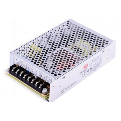 RT-85D Mean Well SMPS (5V 6A), (24V 2A) and (12V 1A) - 90W Triple Output Metal Power Supply
