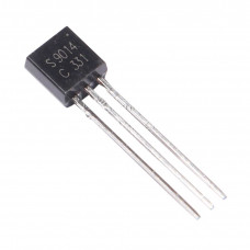 S9014 NPN General Purpose Transistor 45V 100mA TO-92 Package - 5 Piece Pack