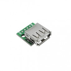 USB Female to 2.54mm Breakout Board with Direct 4P Adapter Board